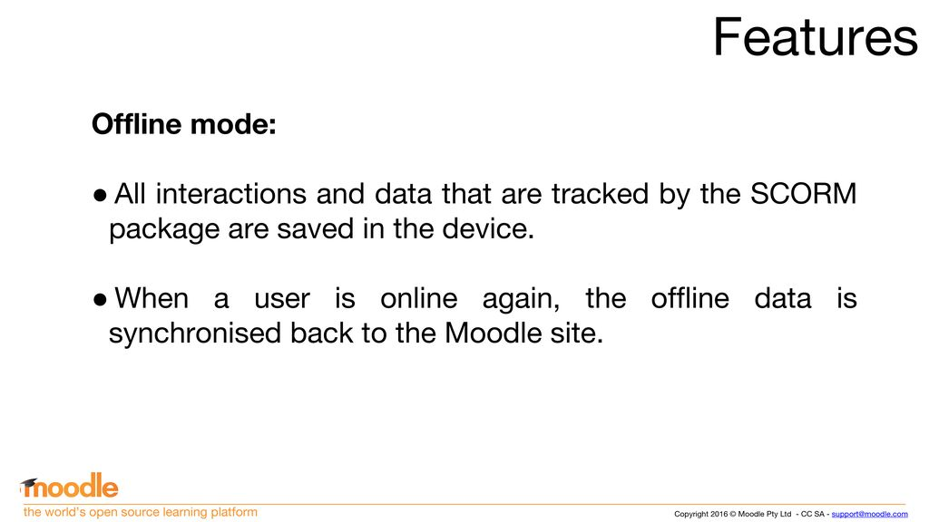 Moodle Mobile SCORM 1 2 player Daniel #mootus ppt download