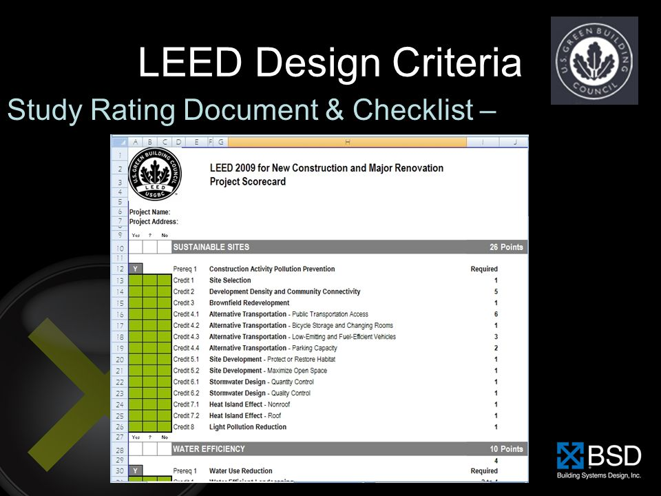 Specifying For Leed Ppt Download