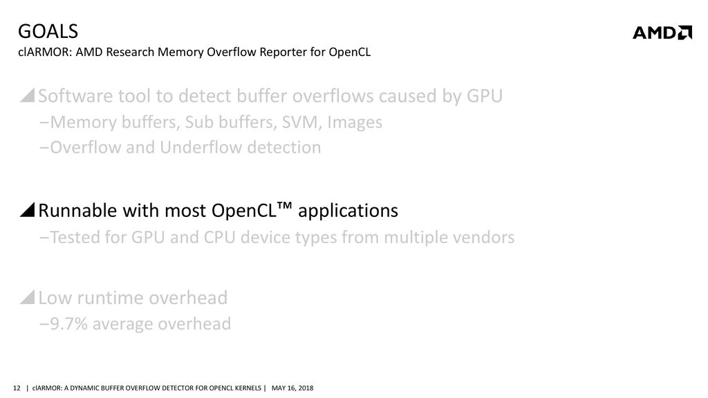 clARMOR: a dynamic buffer overflow detector for OpenCL