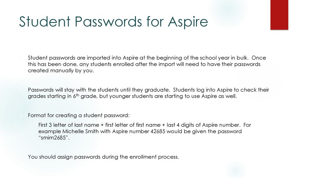 Aspireis the state of Utah's student information system