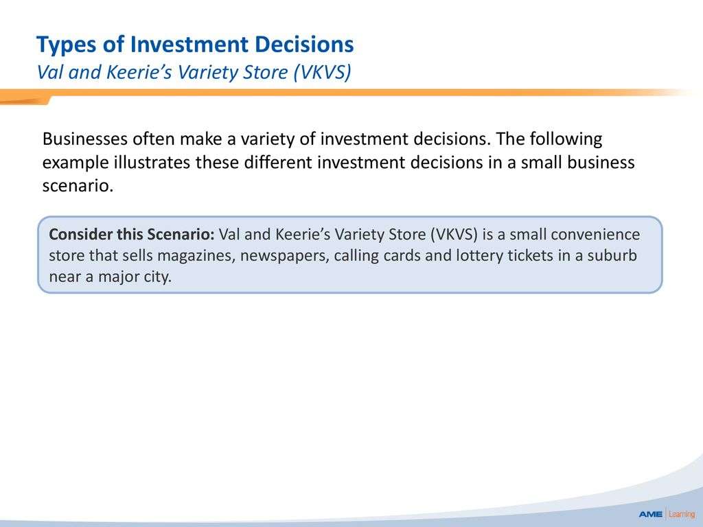 Investment decisions of a small firm investment limited