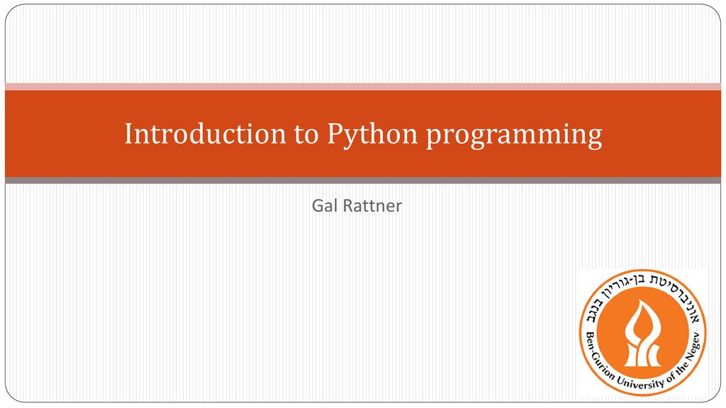 Introduction to Python programming - ppt download