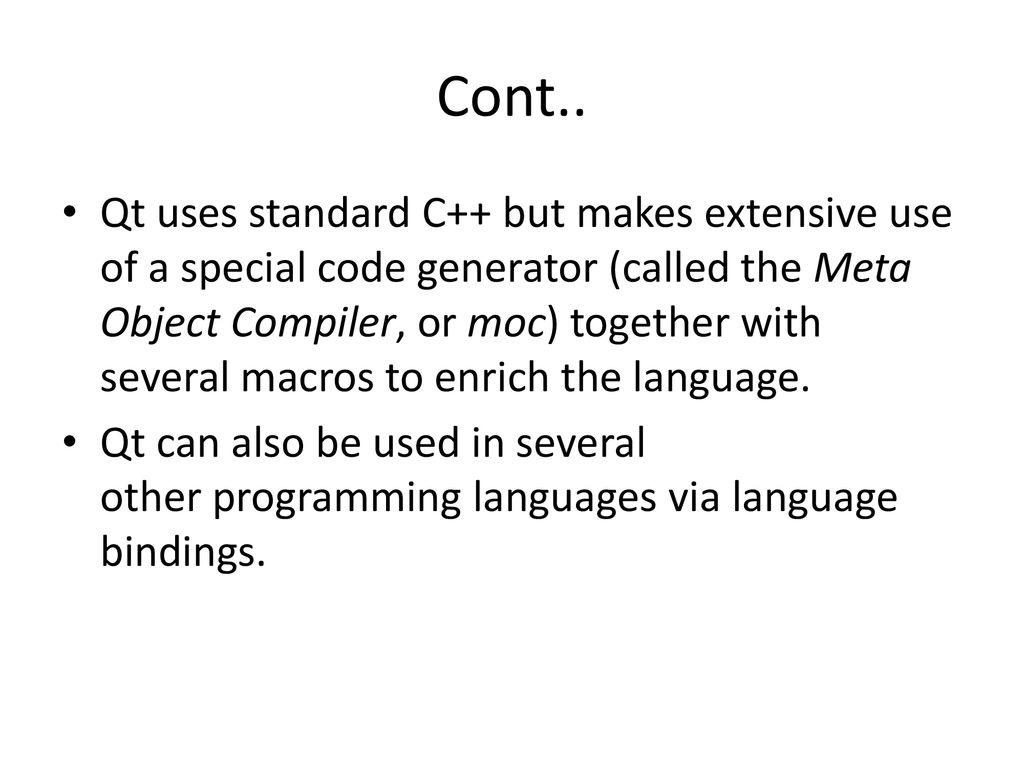 Qt Programming  - ppt download