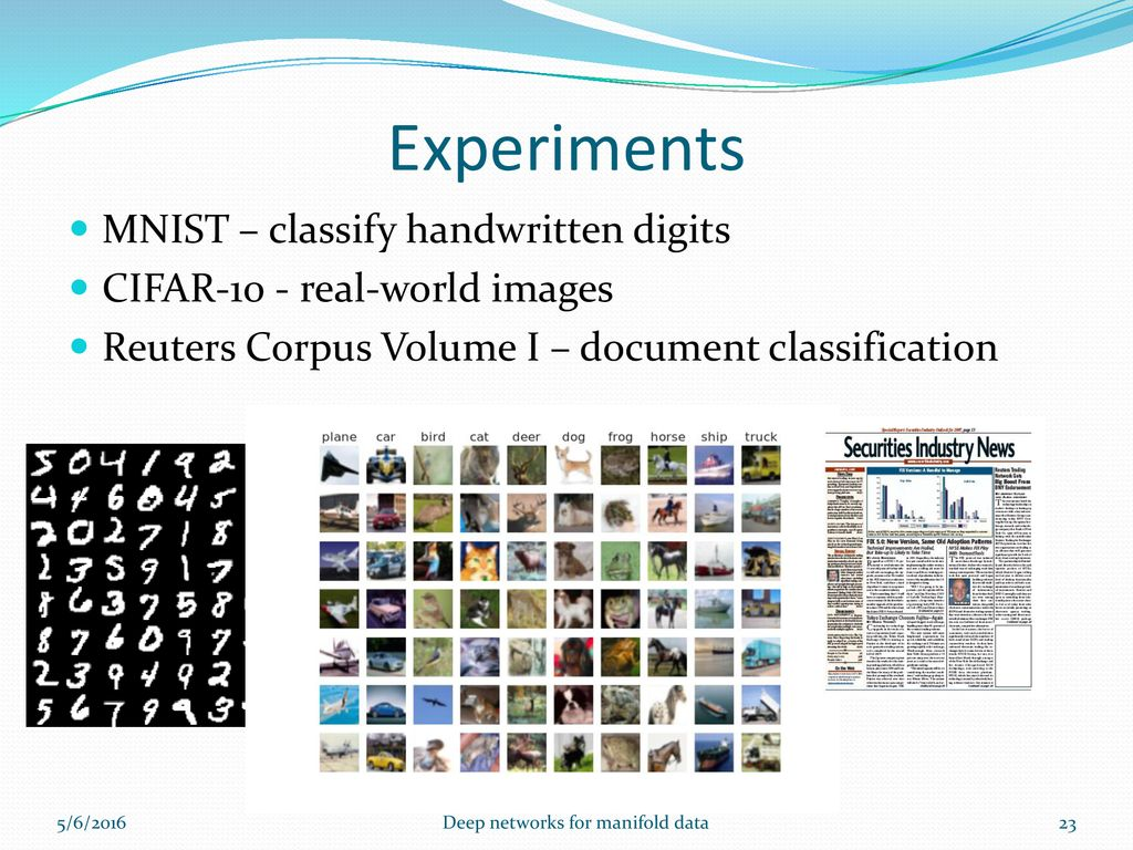 Deep Networks for Manifold Data - ppt download