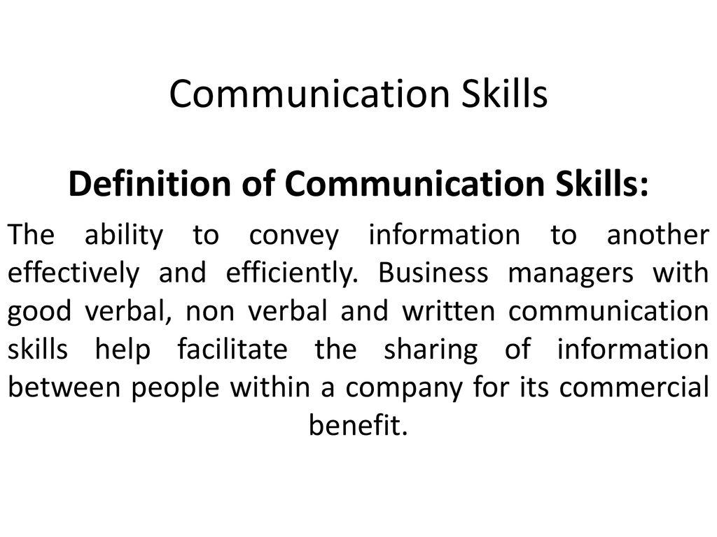 chapter 5: communication skills - ppt download