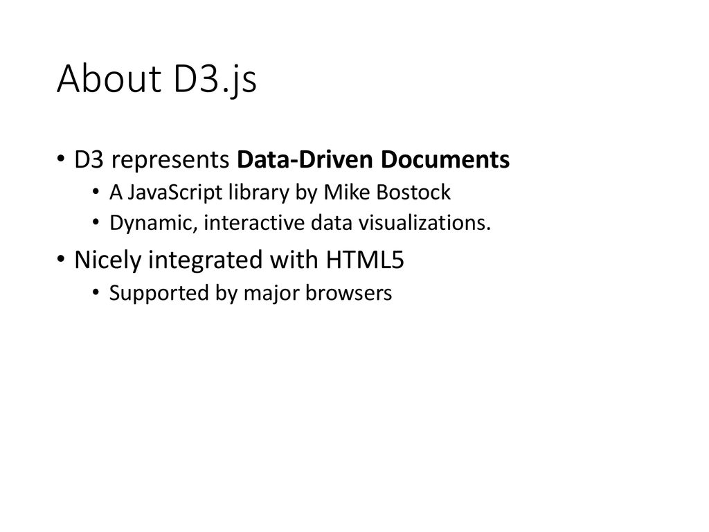 Introduction to D3 js and Bar Chart in D3 js - ppt download