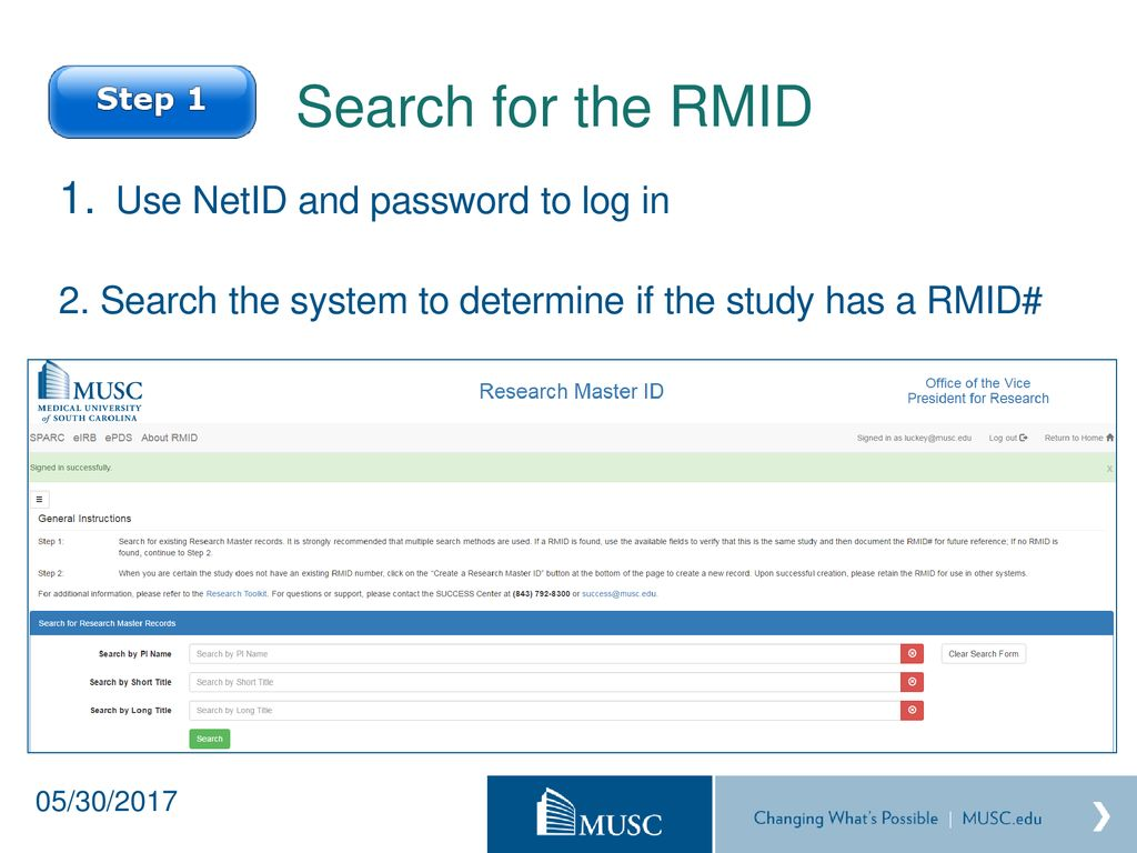 Research Master ID (RMID) - ppt download