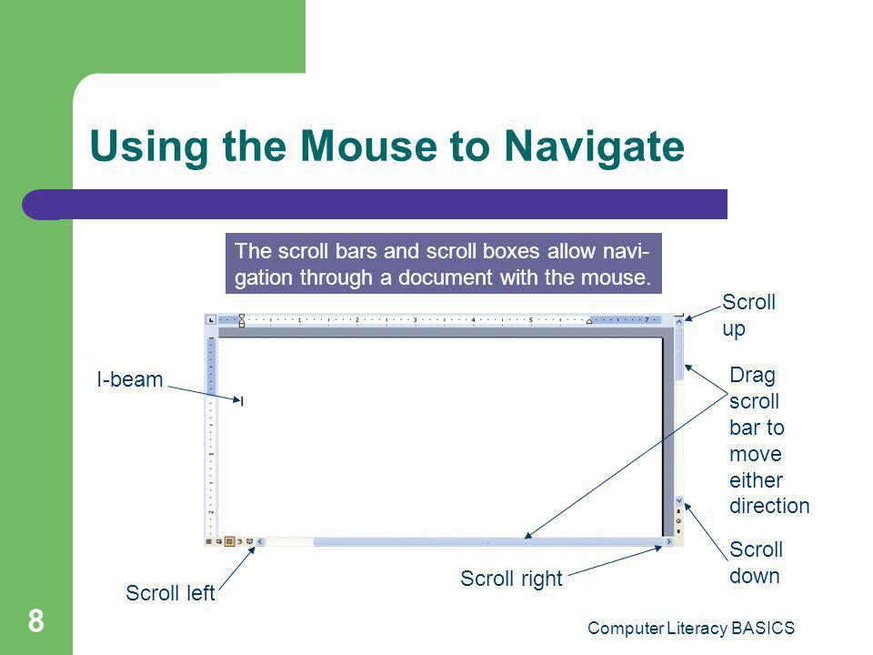 Using the Mouse to Navigate