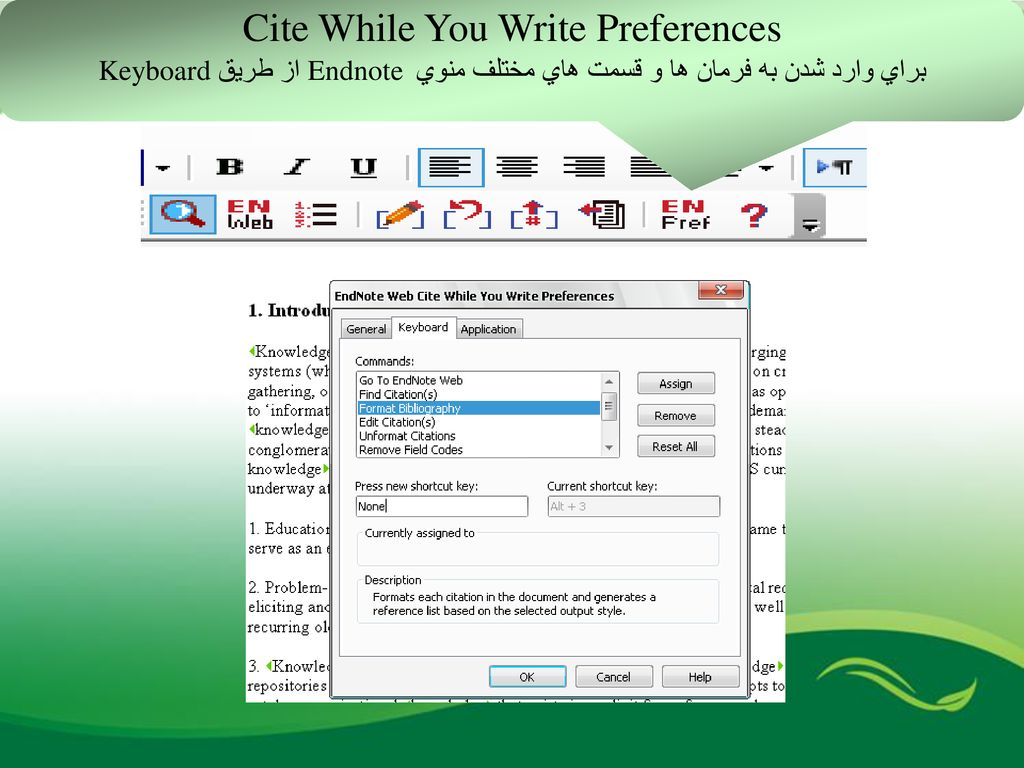 Cite While You Write Preferences