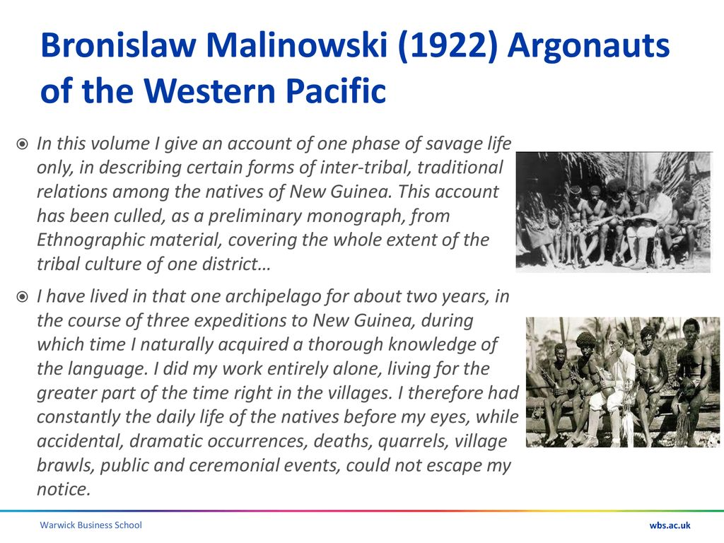 malinowski argonauts of the western pacific analysis
