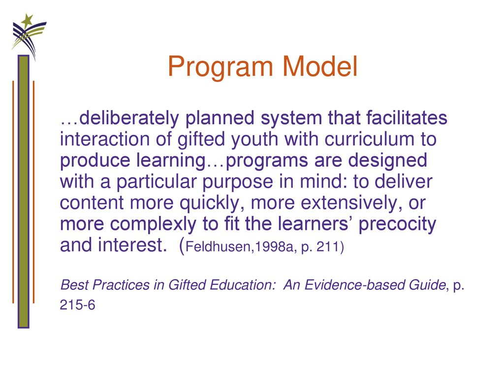 best practices in gifted education an evidence based guide