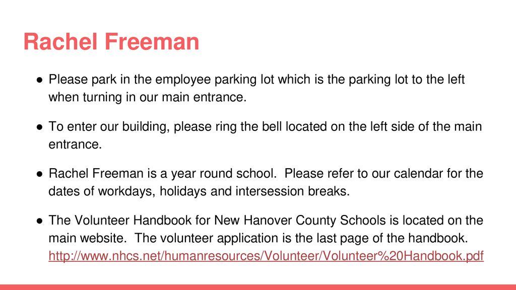 New Hanover County School Calendar.Volunteer Orientation Ppt Download