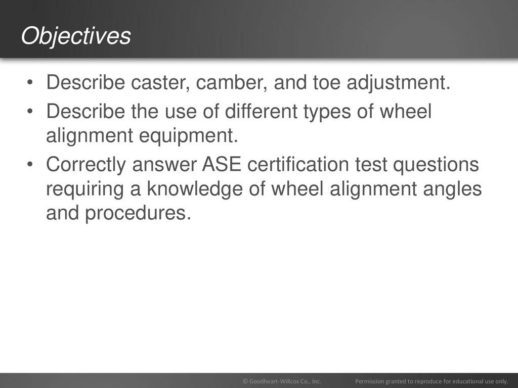 80 Chapter Wheel Alignment 80 Chapter Wheel Alignment Ppt Download