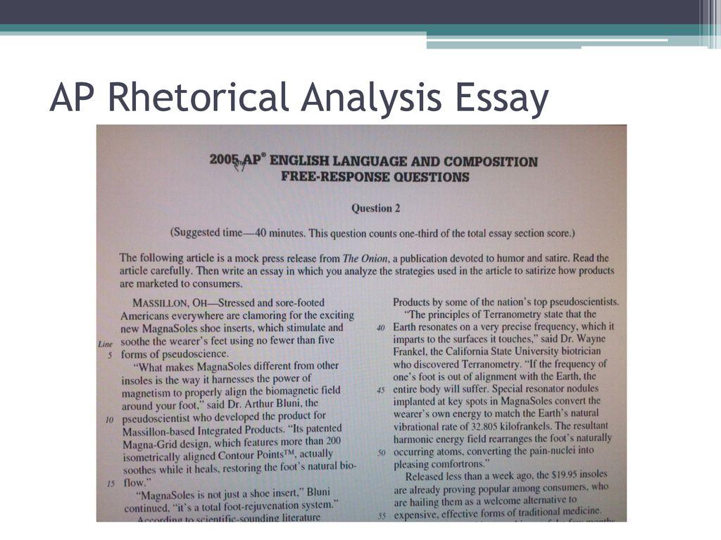 9 AP Rhetorical Analysis Essay