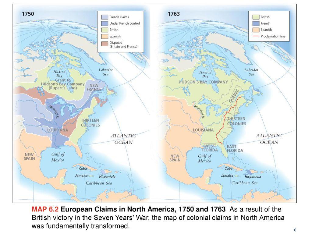 North America Map 1750.1750 Thru The American Revolution Ppt Download