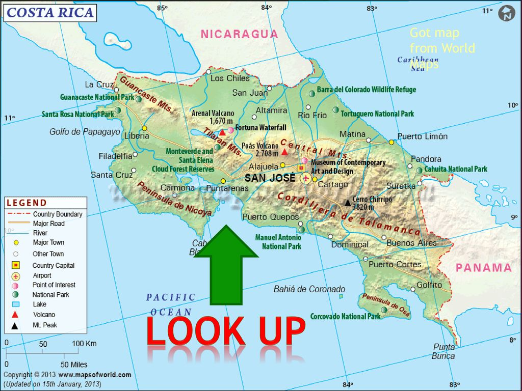Costa Rica Got flag at world maps BY: SAM. - ppt download