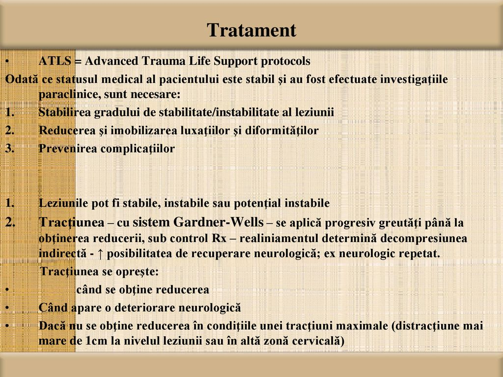Tratament ATLS = Advanced Trauma Life Support protocols.