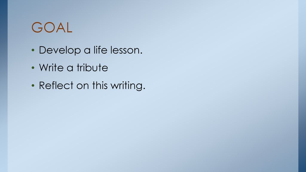 TRIBUTE TO THE PERSON WHO TAUGHT ME SOMETHING - ppt download