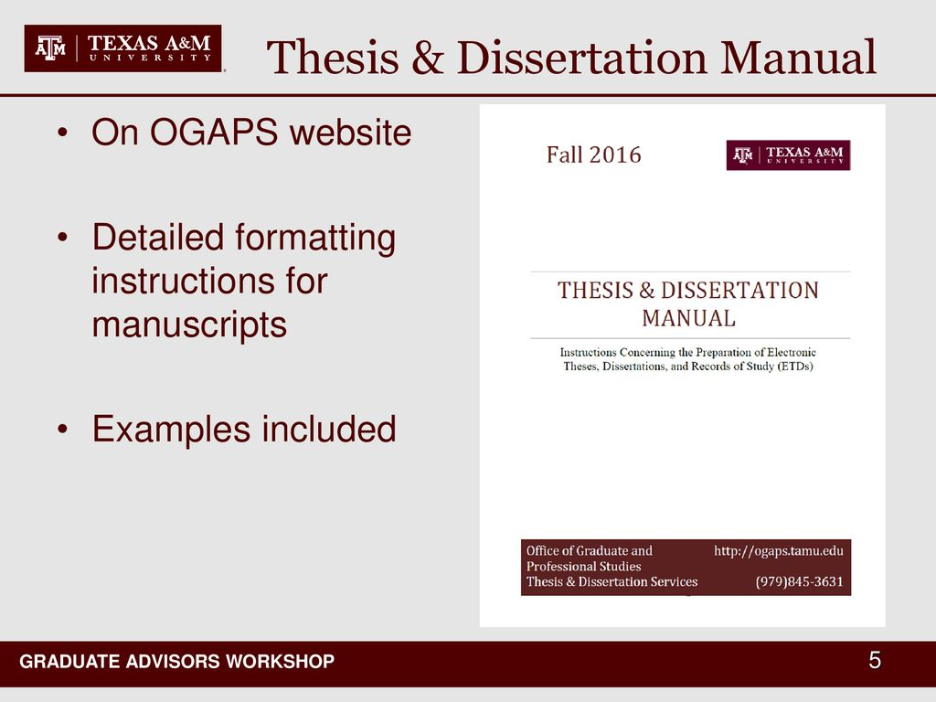 tamu ogaps thesis manual