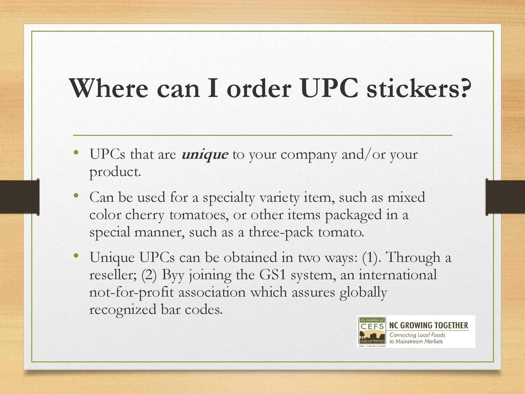 15 where can i order upc stickers
