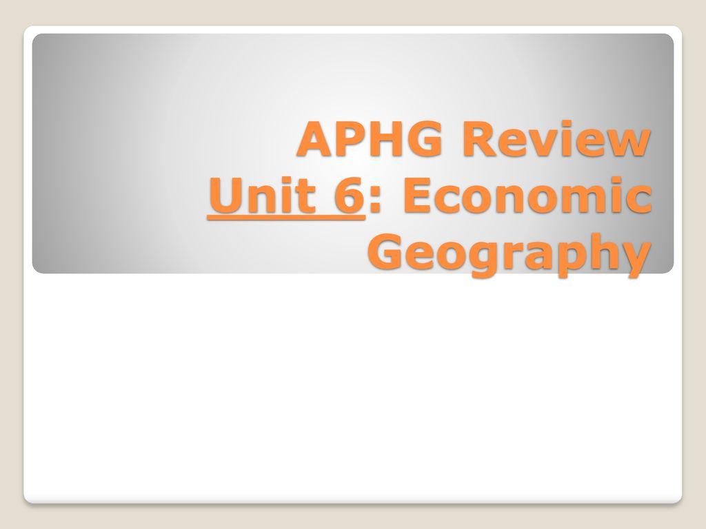 agglomeration economies aphg