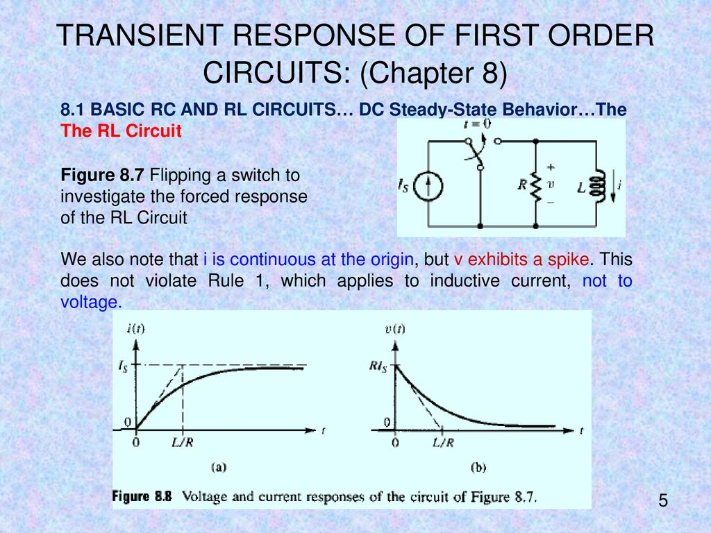 Mechatronics Engineering Ppt Download Inductor Investigations Circuit Transient Response Of First Order Circuits Chapter 8