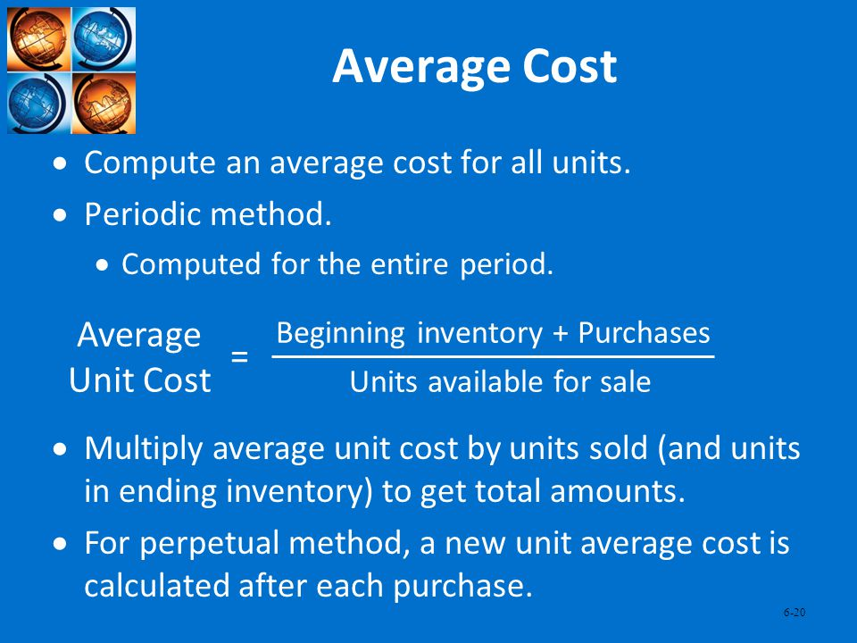 Average Cost Average Unit Cost =