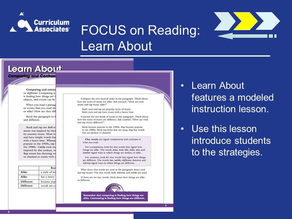 FOCUS on Reading: Learn About