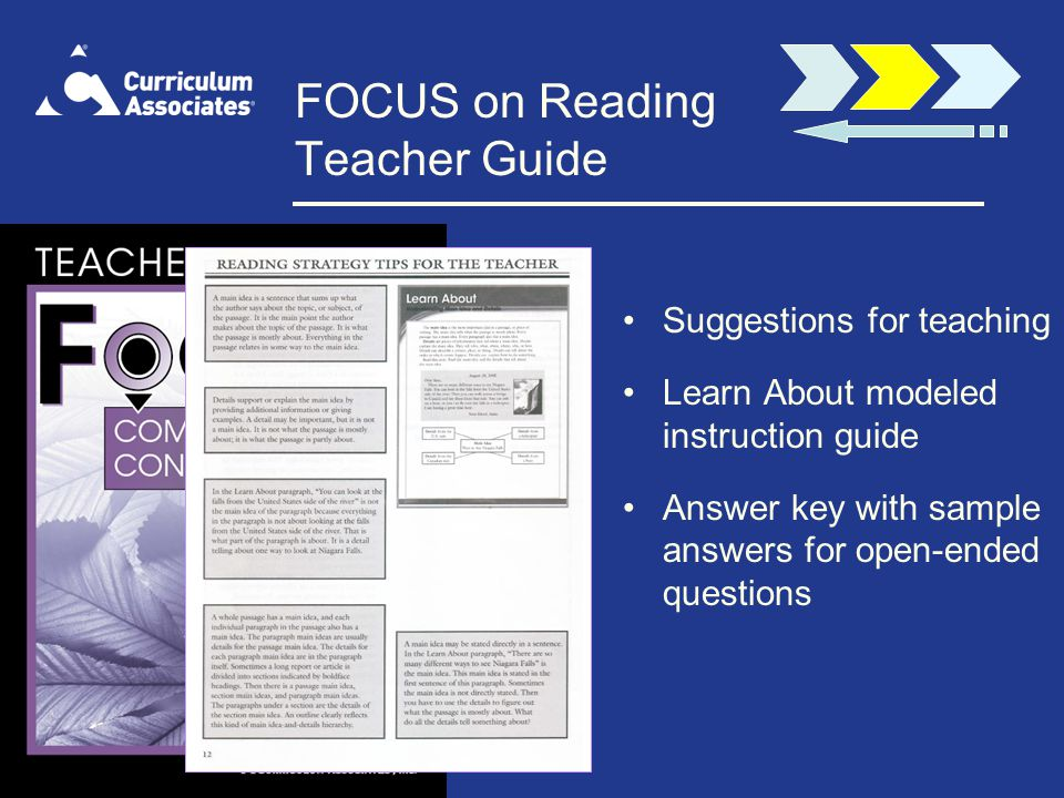 FOCUS on Reading Teacher Guide