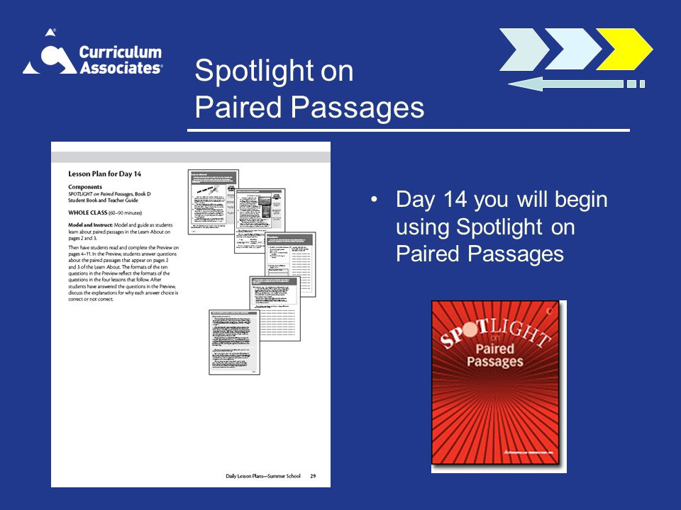 Spotlight on Paired Passages