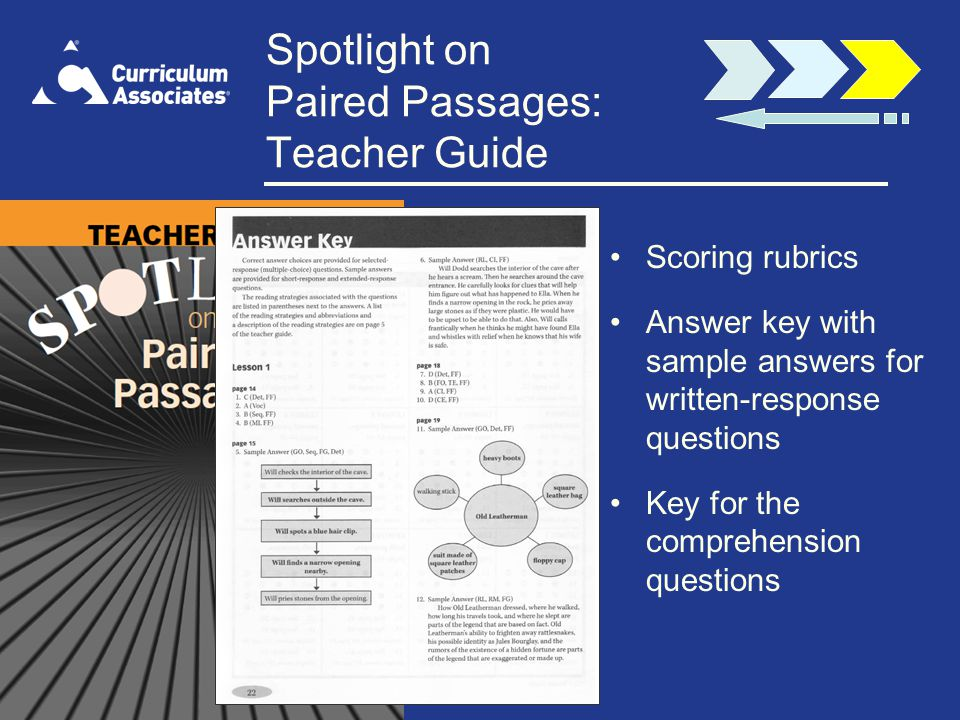 Spotlight on Paired Passages: Teacher Guide