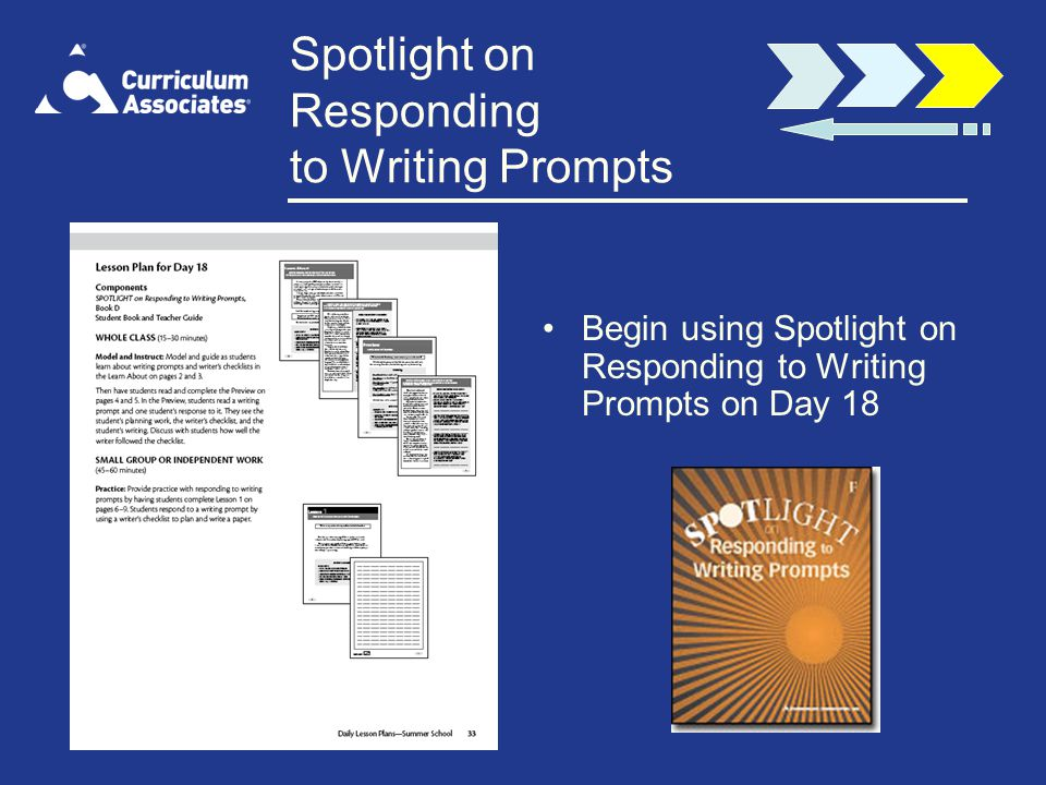 Spotlight on Responding to Writing Prompts
