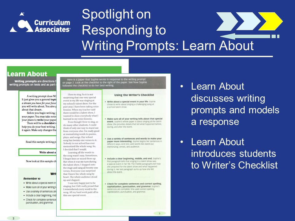 Spotlight on Responding to Writing Prompts: Learn About
