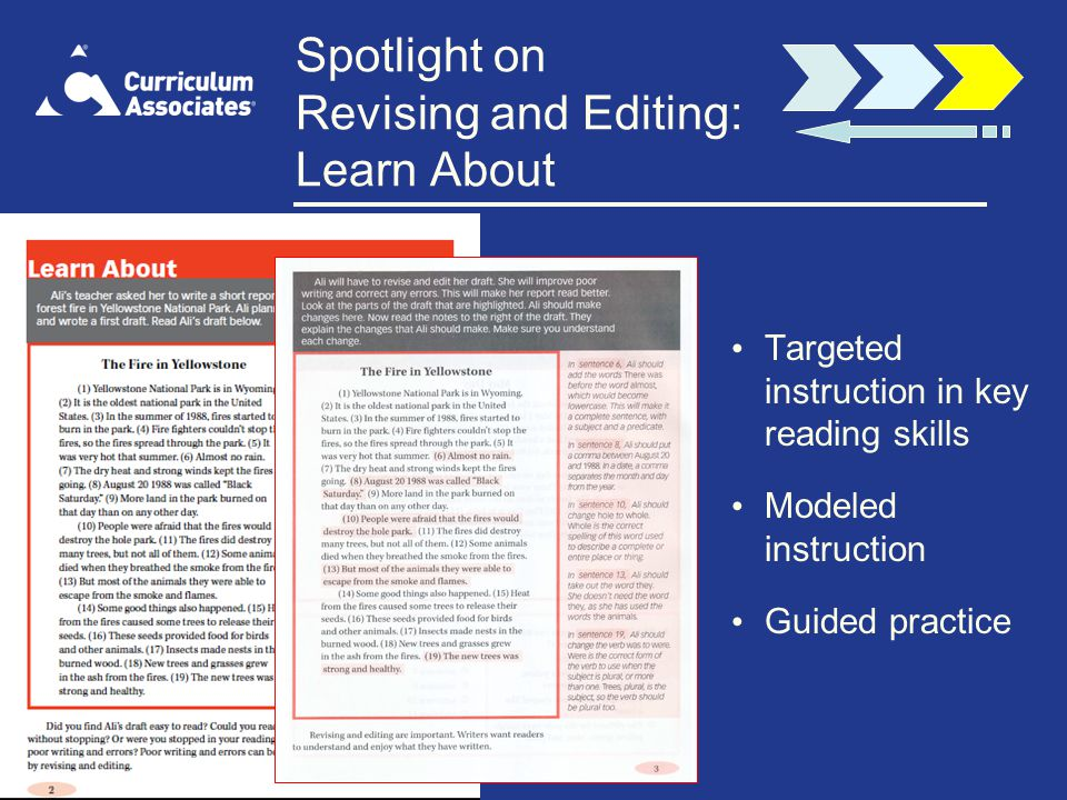 Spotlight on Revising and Editing: Learn About