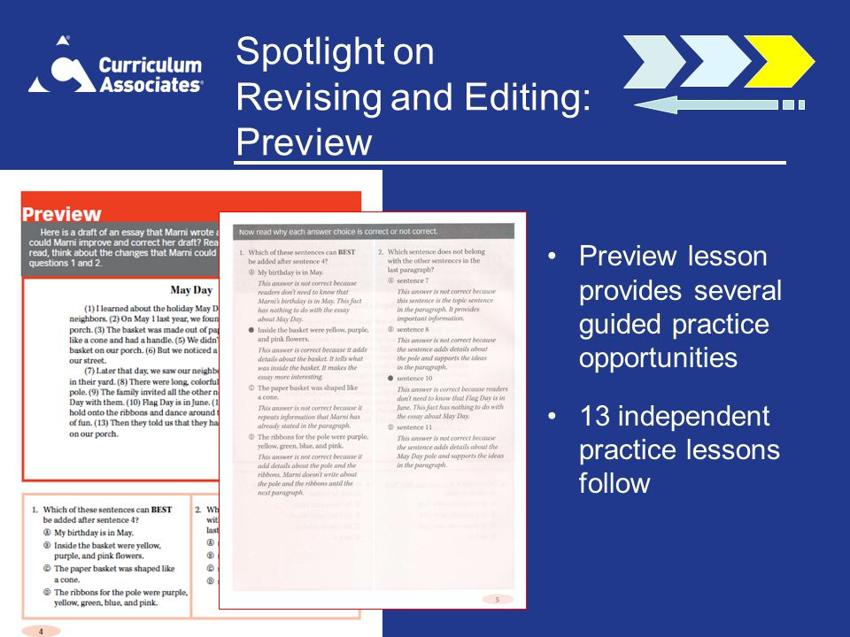 Spotlight on Revising and Editing: Preview