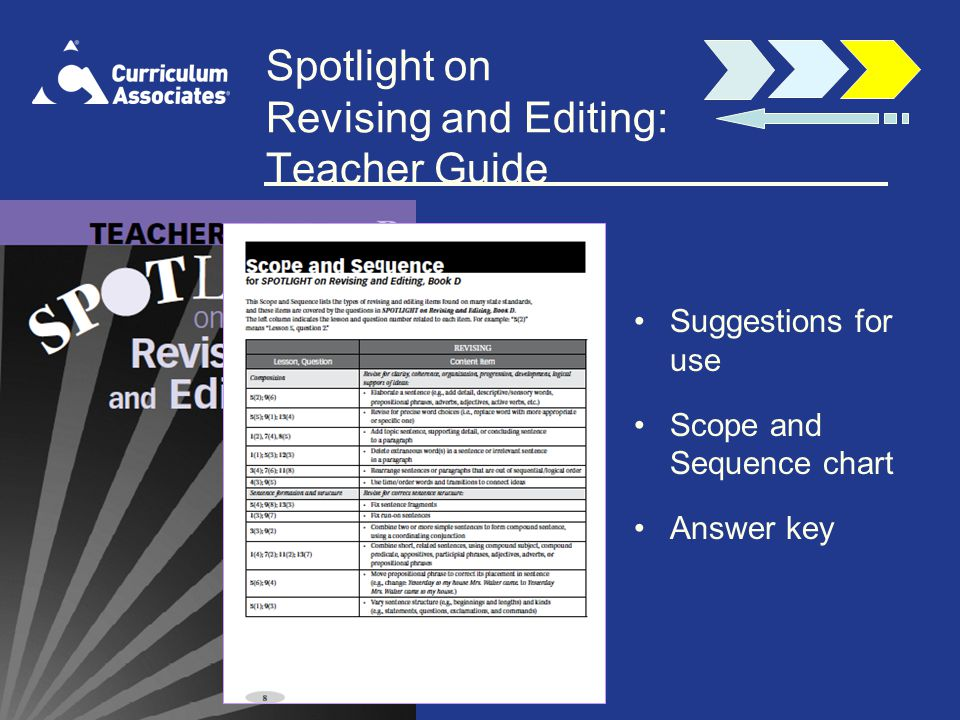 Spotlight on Revising and Editing: Teacher Guide
