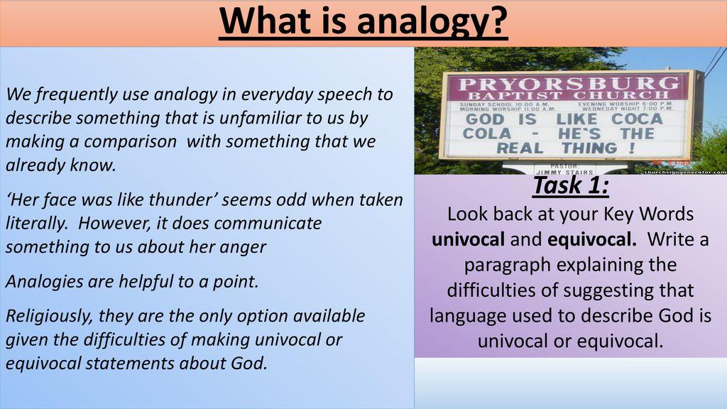 univocal equivocal analogous examples
