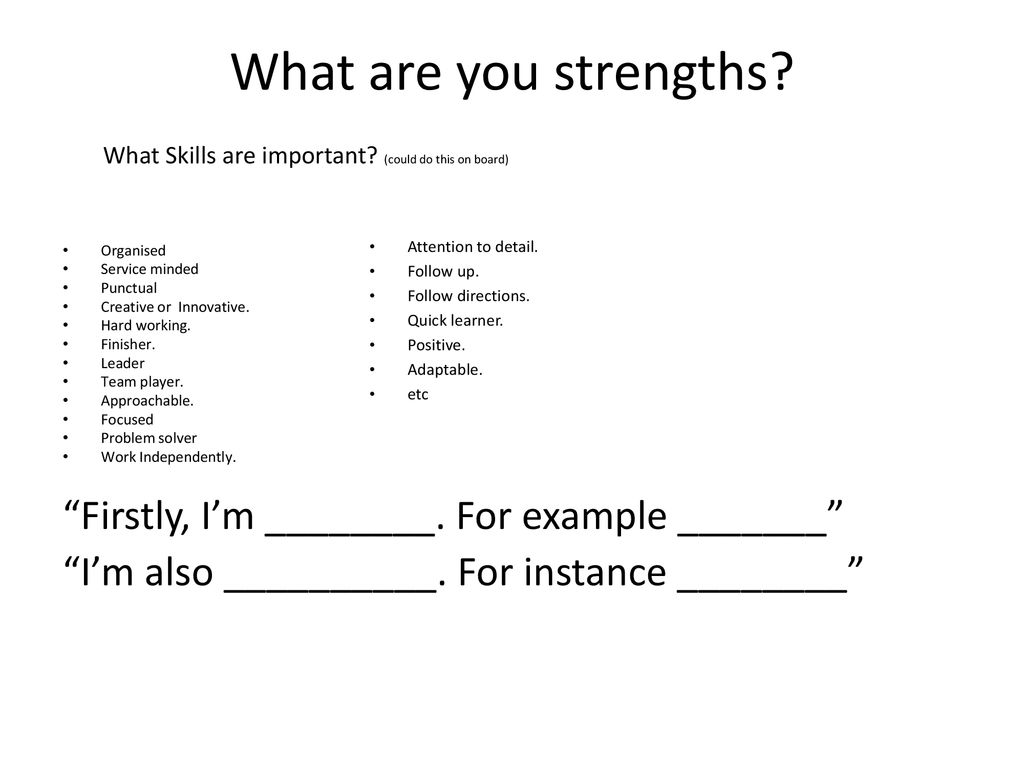 quick learner strength example