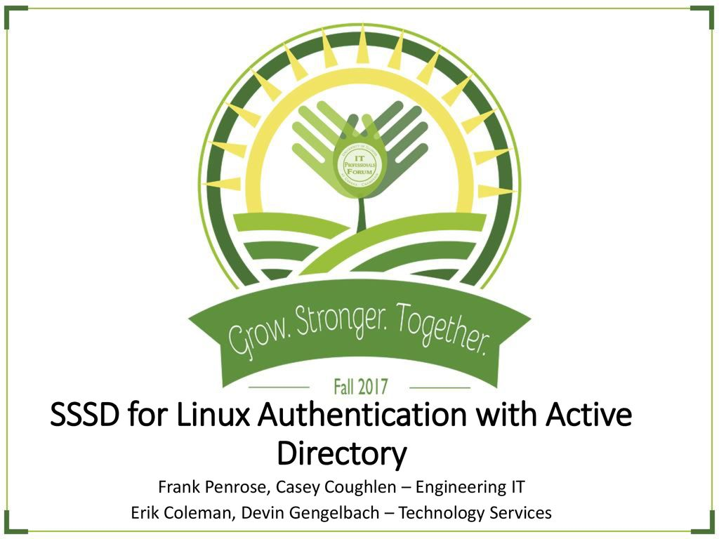 SSSD for Linux Authentication with Active Directory - ppt