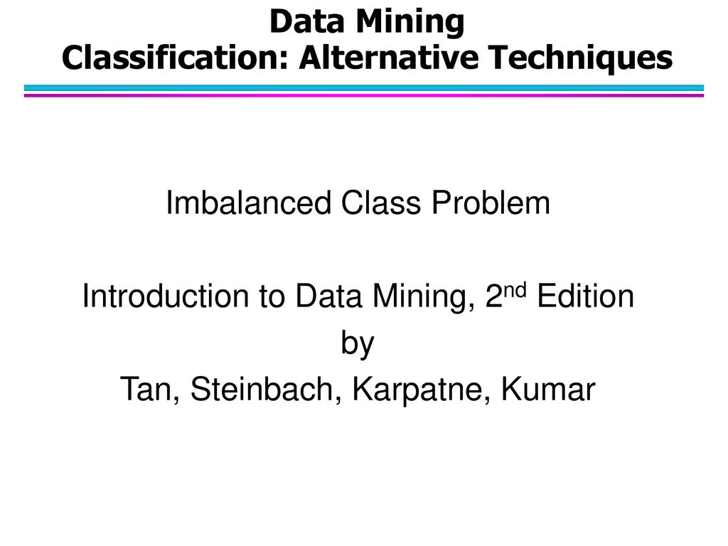 Data Mining Classification: Alternative Techniques - ppt