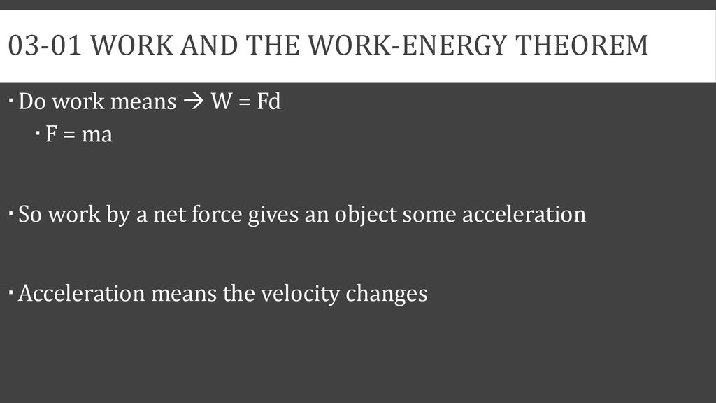 Work Energy and Momentum - ppt download