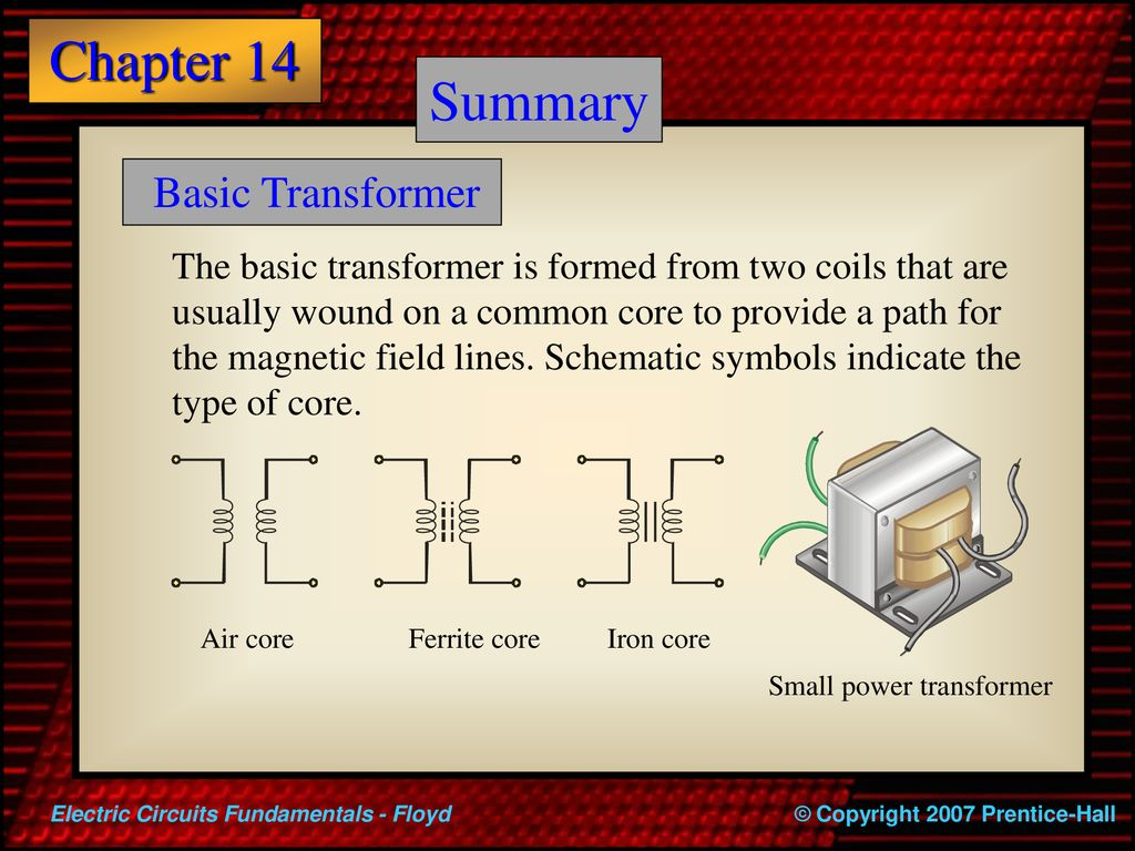 Electric Circuits Fundamentals Ppt Download Electronic Circuit Diagram Symbols The Little 2 Summary Basic Transformer