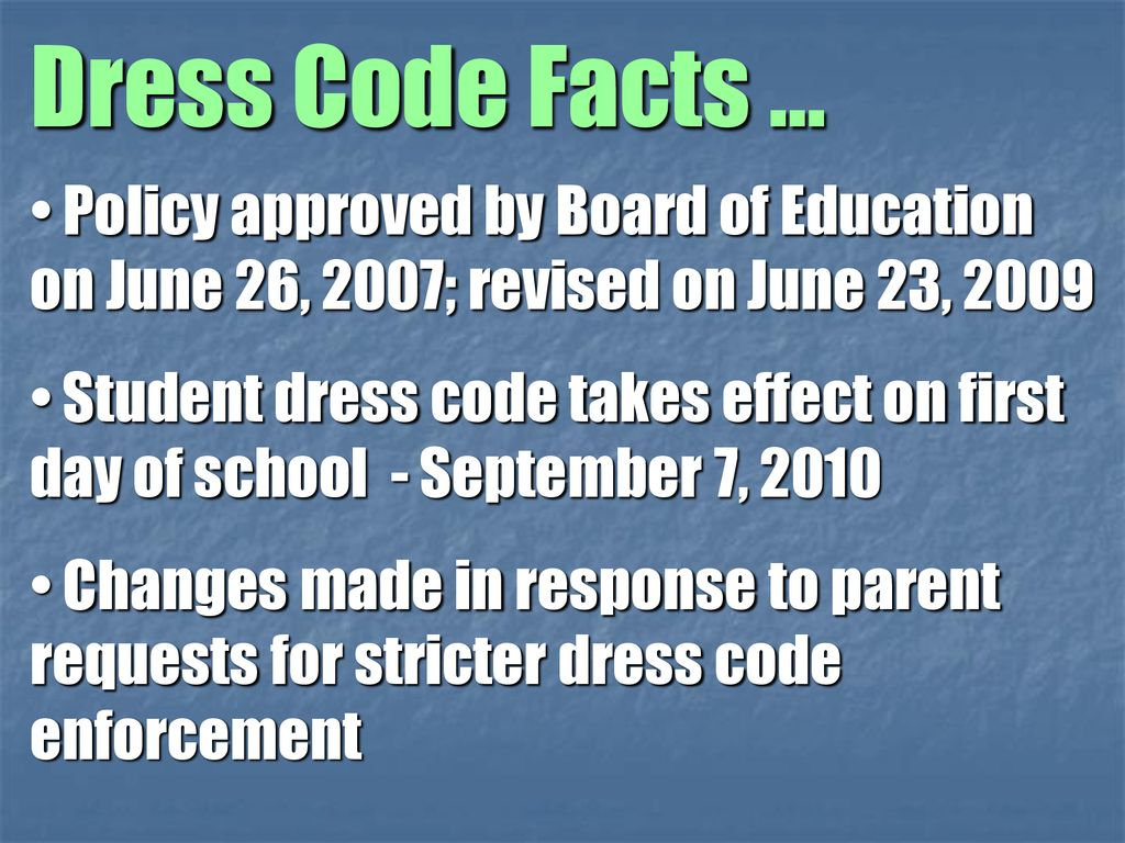 Student Dress Code Policy - ppt download