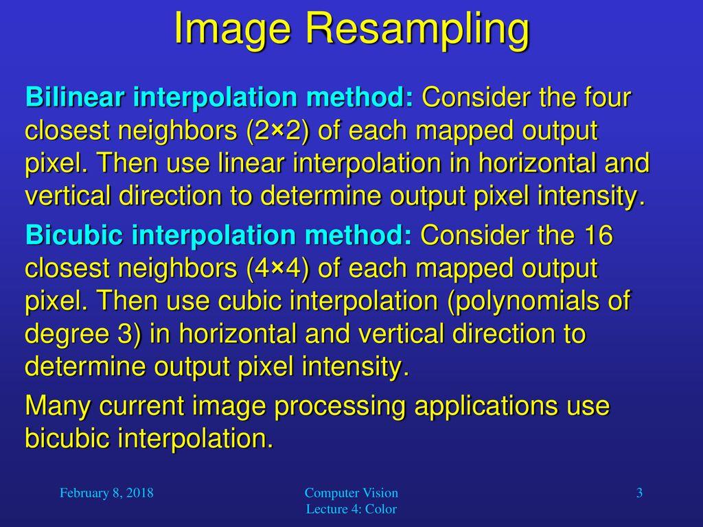 Computer Vision Lecture 4: Color - ppt download