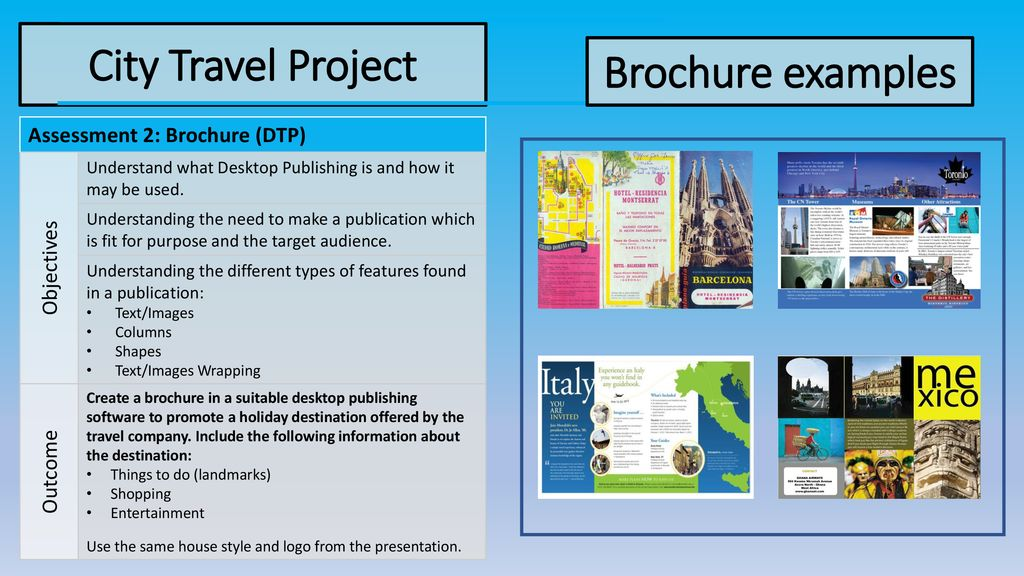 City Travel Project Brochure examples - ppt download