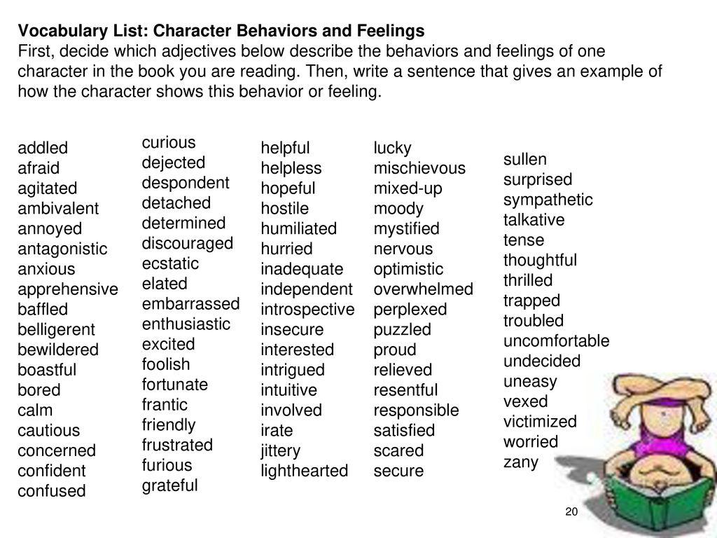 adjectives to describe behavior