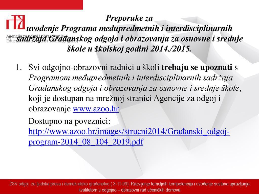 programi upoznavanja 2014