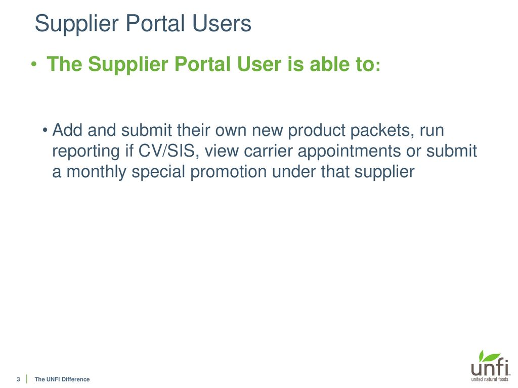 Supplier Portal User Guide - User - ppt download