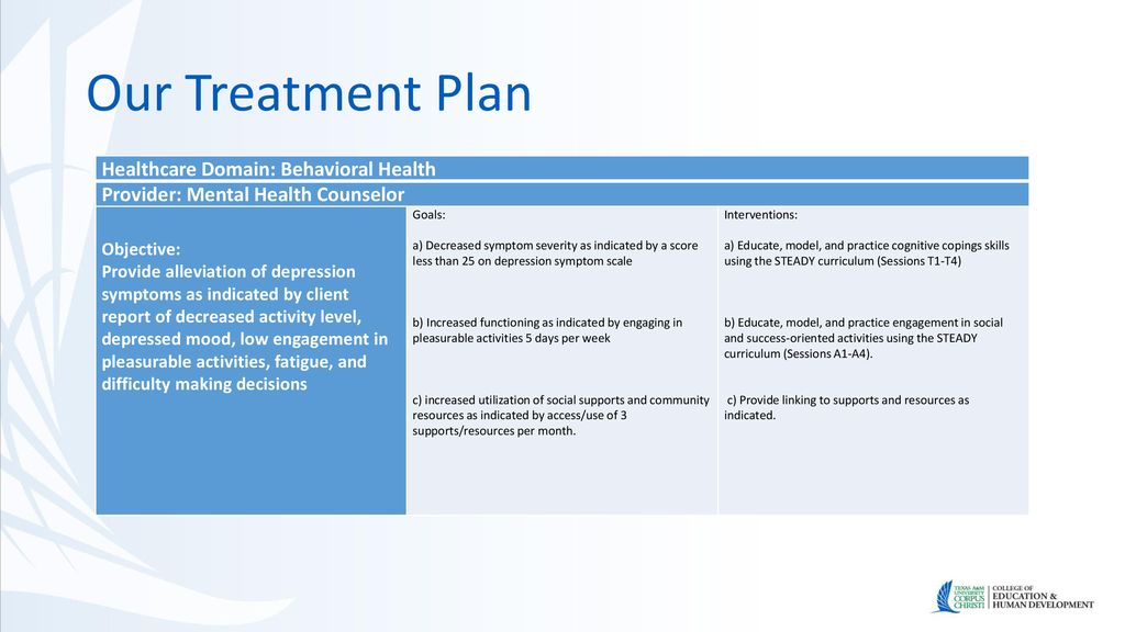 Treatment Of Clients Experiencing Depression Ppt Download