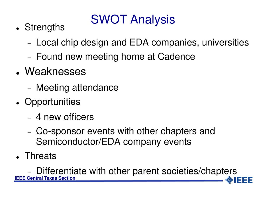 Council On Electronic Design Automation Chapter Ppt Download Eda Group 5 Swot Analysis Weaknesses Strengths Local Chip And